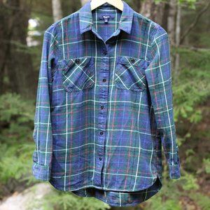 MADEWELL hunter green plaid flannel
